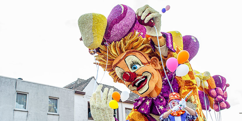 Float in the worlds largest flower parade at Zundert, a small town in the Netherlands