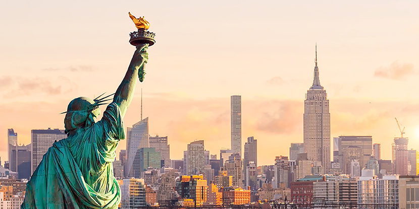 US patent firms, Statue of Liberty, Quinn Emanuel, Kirkland & Ellis