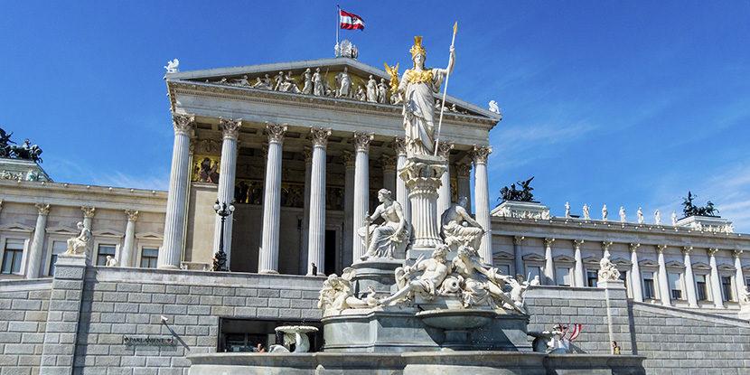 Austrian parliament, Vienna, patent
