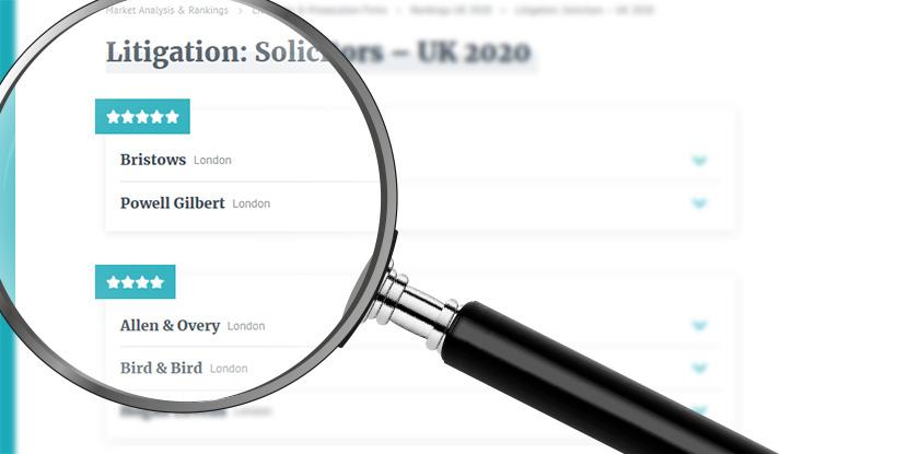 JUVE Patent, JUVE Patent UK rankings